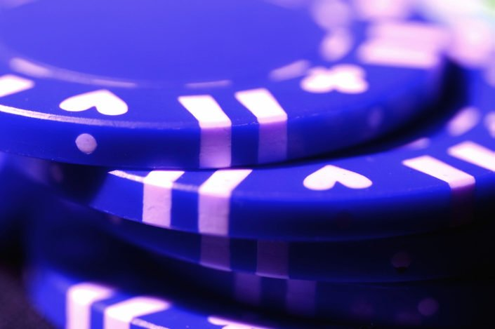 Blue gambling chips