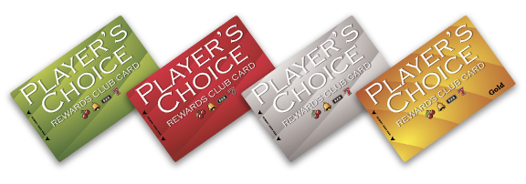 Player's Choice Rewards Club Cards